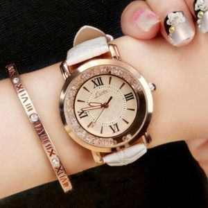 Luxury Bling Rhinestone Loose Crystals Watch